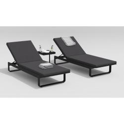 """Мебель для отдыха из алюминия """"Villino"""" темно-серый/антрацит"""