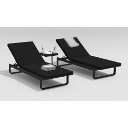 """Мебель для отдыха из алюминия """"Villino"""" темно-серый/черный"""