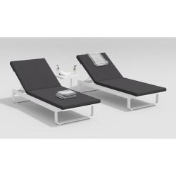 """Мебель для отдыха из алюминия """"Villino"""" белый/антрацит"""