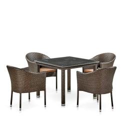 "Плетеная мебель "" T257A/Y350A-W53 Brown 4Pcs"""