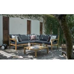 """Мебель из акации """"Brighton"""" с угловым диваном"""