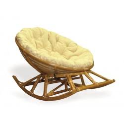 Кресло-качалка Papasan цвет коньячный