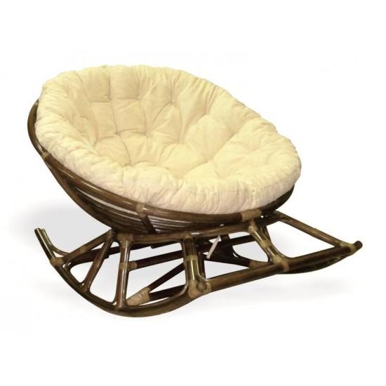Кресло-качалка Papasan цвет коричневый