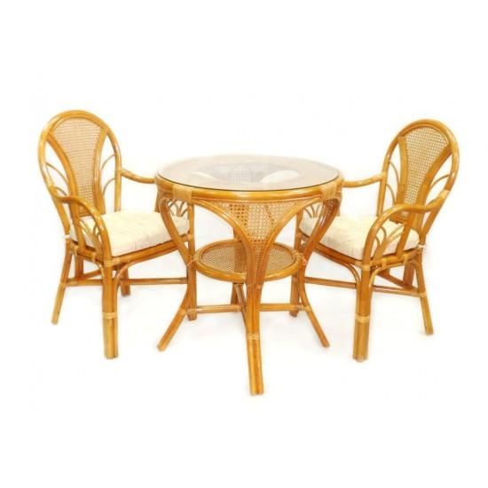 Мебель из натурального ротанга La Mokko cognac