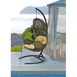 """Подвесное кресло кокон """"Flyhang"""" из ротанга"""