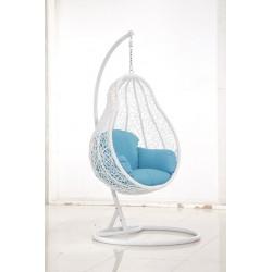 """Подвесное плетеное  кресло """"Basel white"""""""