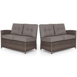 """Кушетки 2-х местные углового дивана """"Soho"""" brown, прав.+лев."""