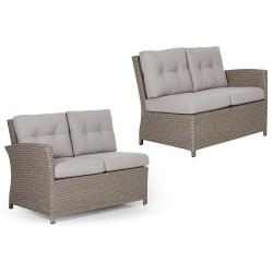 """Угловой диван """"Soho"""" beige, боковые кушетки прав. и левая"""