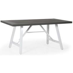 Стол Calais white/grey, 200х100 см