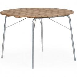 """Стол из тика """"56:AN"""" natural, d100 см"""
