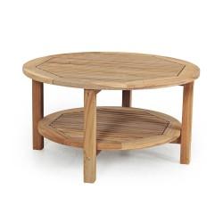"""Стол из тика """"Collin"""", d90 см, кофейный"""