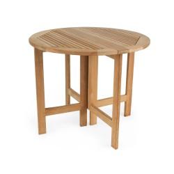 """Складной стол из тика """"Ibiza"""", d90 см"""