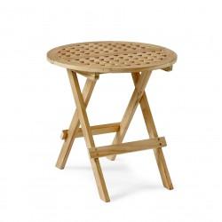 """Стол из тика """"Kreta"""", d50 см, приставной"""