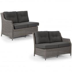 """Угловой диван """"Pompano"""" grey, правая и левая боковые кушетки"""