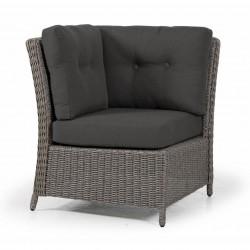 """Плетеный диван """"Pompano"""" beige, угловая секция"""