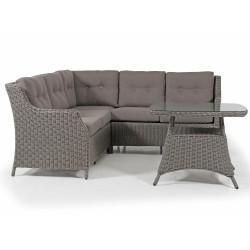 """Плетеная мебель """"Pompano"""" beige с угловым диваном"""