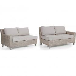 """Угловой диван """"Weston"""" beige, прав. и лев. боковые кушетки"""