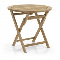 """Круглый стол из тика """"Turin"""", d80 см"""