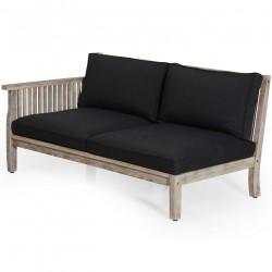 """Модульный  диван из акации """"Dallas"""" white правая секция"""