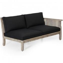 """Модульный  диван из акации """"Dallas"""" white левая секция"""