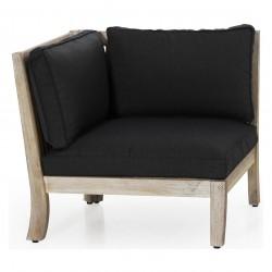 """Модульный  диван из акации """"Dallas"""" white угловая секция"""