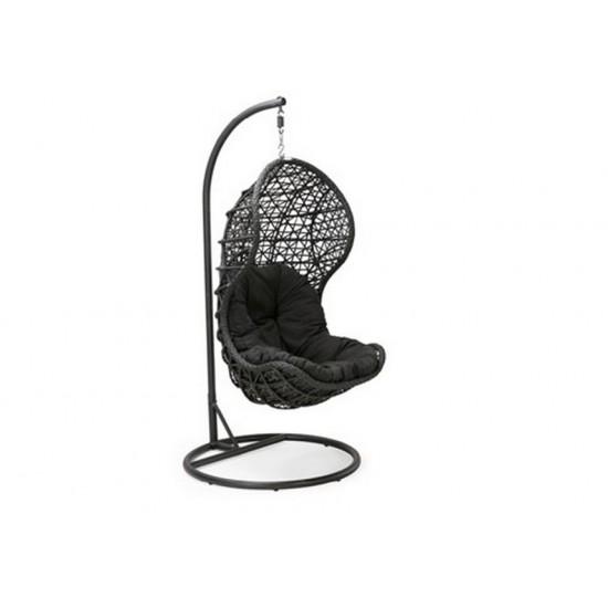 Плетеное подвесное кресло CAND black