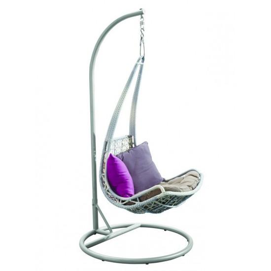 Плетеное подвесное кресло LEAF