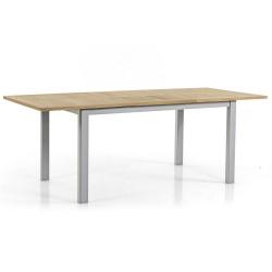 """Стoл из тика """"Lyon"""" natur/grey, 152-210x92 см, раздвижной"""