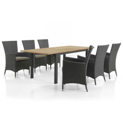 """Комплект мебели """"Ninja & Lyon"""" из тика, алюминия и искусственного ротанга."""
