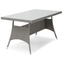 """Плетеный стол """"Atlanta"""" grey 140х80"""