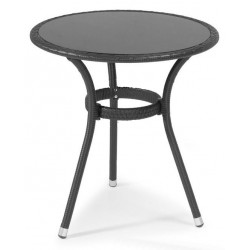 """Плетеный стол """"Atlanta"""" black d70"""