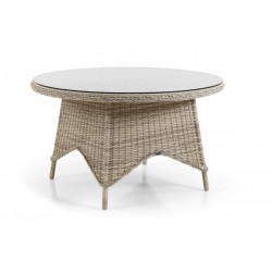 "Плетеный стол ""Paulina beige"" 130см."