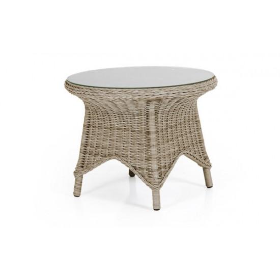 """Плетеный стол """"Paulina beige"""" d 70"""