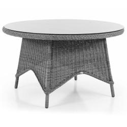 """Плетеный стол  """"Paulina"""" grey d 130см"""