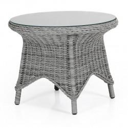 """Плетеный стол """"Paulina"""" grey d 70"""