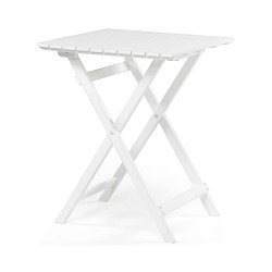 "Складной стол из акации ""Are"" white 58*58 см"