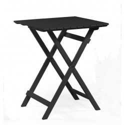 "Складной стол из акации ""Are"" black 58*58 см"