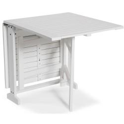 "Складной стол из акации ""Are"" white 70*20/80/140"