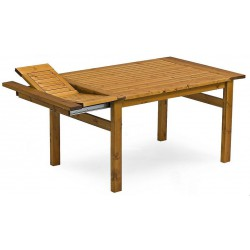"""Стол из сосны """"Embla"""" brown 70/210/250x90 см"""