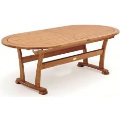 """Обеденный стол из сосны """"Embla"""" brown 70/210/250x90 см"""