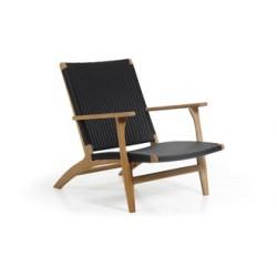 "Кресло из тика и ротанга ""Kira"" natur/gray"