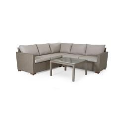 "Плетеная мебель ""Canby set corner"" beige"