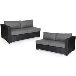 """Две боковые кушетки углового дивана """"Ninja black new"""""""