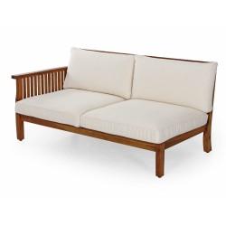 """Модульный диван из акации """"Dallas"""" natur правая секция"""