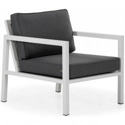 Кресло из алюминия "Belfort" white