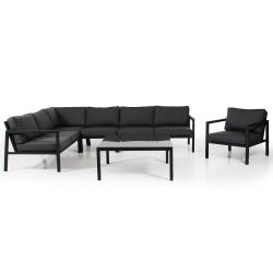 """Мебель из алюминия """"Belfort"""" black с креслом"""