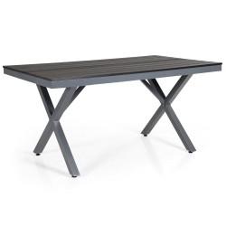 "Стол из алюминия ""Leone"" 150х90, grey-grey"