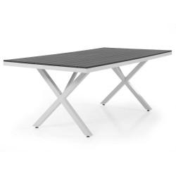 """Стол из алюминия """"Leone"""" 150х90, white-grey"""