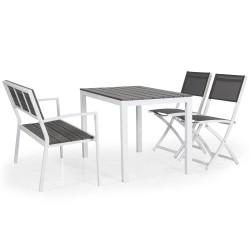 """Комплект мебели """"Leone"""" из алюминия со скамьей"""