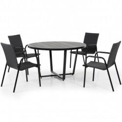 """Комплект мебели """"Leone & Carnac"""" из алюминия"""